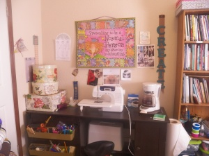 This is my sewing area